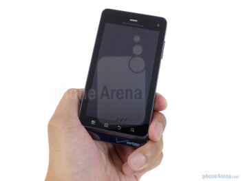 The Motorola DROID 3 feels solid in the hand - Motorola DROID 3 Review