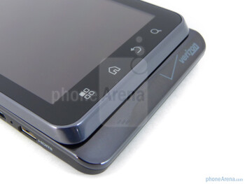 The sides of the Motorola DROID 3 - Motorola DROID 3 Review