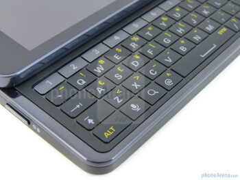 The 5-row keyboard employs a dedicated row for numbers - Motorola DROID 3 Review
