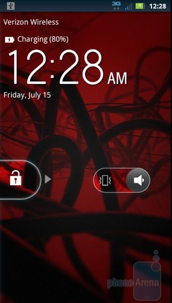 The MOTOBLUR UI of Motorola DROID 3 - Motorola DROID 3 vs HTC ThunderBolt