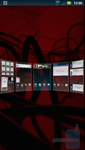 The MOTOBLUR UI of Motorola DROID 3 - Motorola DROID 3 vs HTC ThunderBolt