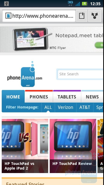 Web browsing with the Motorola DROID 3 - Motorola DROID 3 vs HTC ThunderBolt