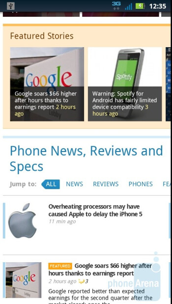 Web browsing with the Motorola DROID 3 - Motorola DROID 3 vs Motorola DROID X2