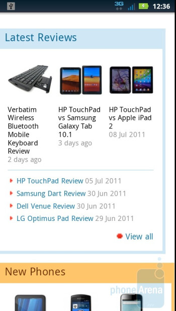 Web browsing with the Motorola DROID 3 - Motorola DROID 3 Review