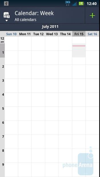 Calendar of the Motorola DROID 3 - Motorola DROID 3 vs Motorola DROID X2