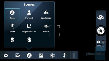 Camera interface of the Motorola DROID 3 - Motorola DROID 3 vs Motorola DROID X2