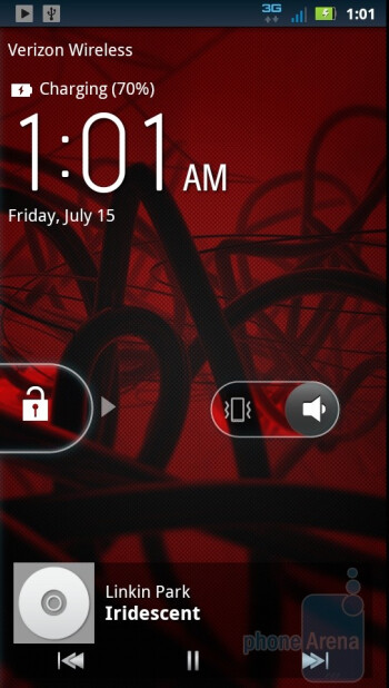 The music player  - Motorola DROID 3 Review
