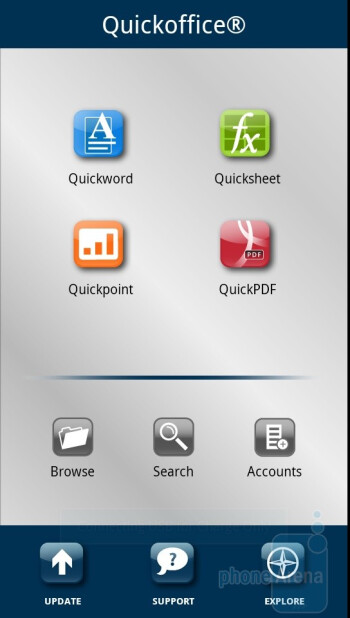 Quickoffice - Third party apps - Motorola DROID 3 Review