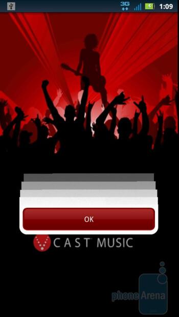 V CAST Music - VZ apps - Motorola DROID 3 Review