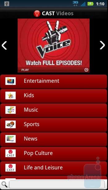 V CAST Videos - VZ apps - Motorola DROID 3 Review