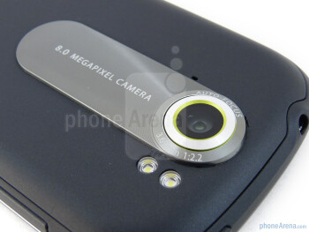 In the rear, we find the elevated 8-megapixel auto-focus camera and dual-LED flash - T-Mobile myTouch 4G Slide Review