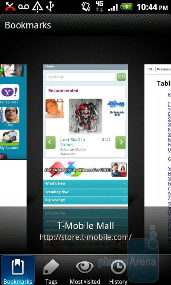Web browsing with the T-Mobile myTouch 4G Slide - T-Mobile myTouch 4G Slide Review