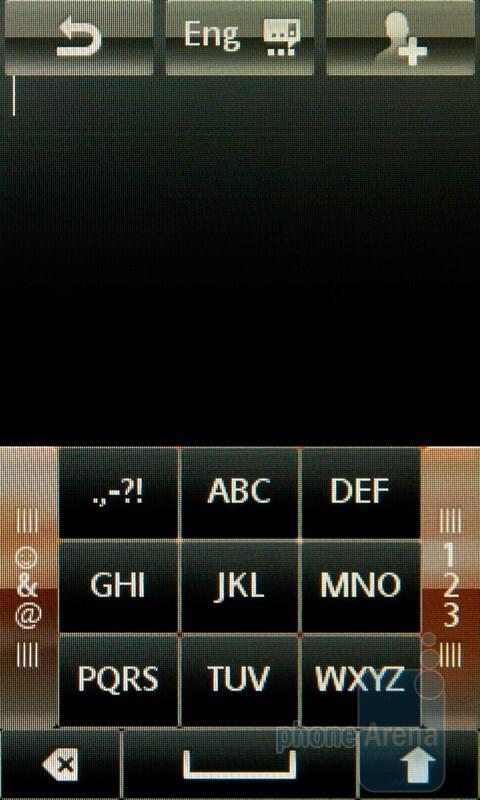 The virtual T9 keypad - Sony Ericsson Mix Walkman Preview
