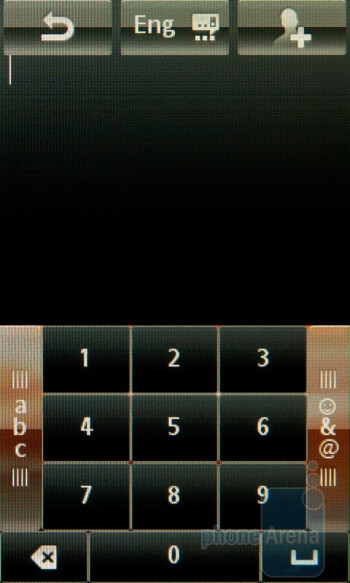 The virtual T9 keypad - Sony Ericsson Mix Walkman Preview