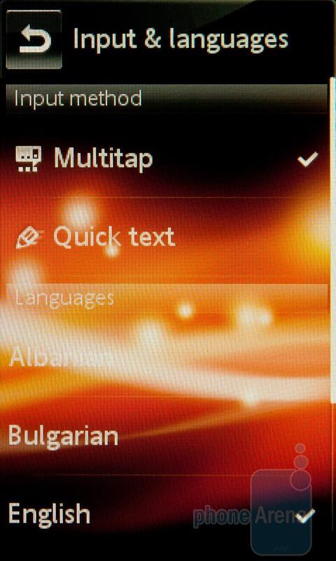 Settings - The virtual T9 keypad - Sony Ericsson Mix Walkman Preview