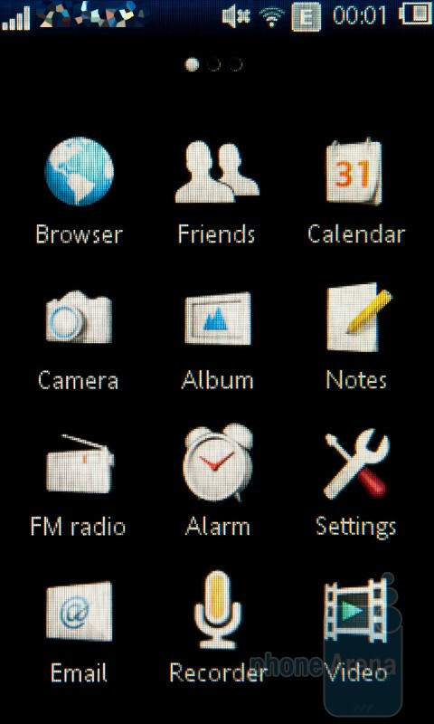 The corner Touch UI of the Sony Ericsson Mix Walkman - Sony Ericsson Mix Walkman Preview