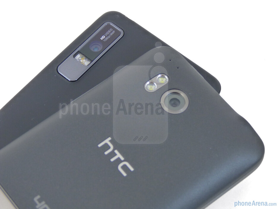 8-megapixel cameras in the rear - The Motorola DROID 3 (bottom) and the HTC ThunderBolt (top) - Motorola DROID 3 vs HTC ThunderBolt