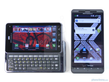 The Motorola DROID 3 (left) and the Motorola DROID X2 (right) - Motorola DROID 3 vs Motorola DROID X2