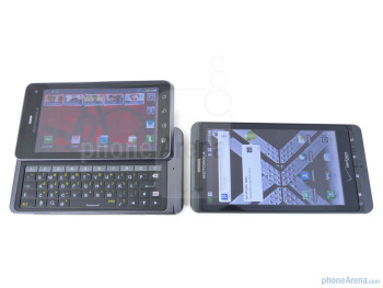 The Motorola DROID 3's QWERTY keyboard manages to round out the handset's exclusive set of features - Motorola DROID 3 vs Motorola DROID X2