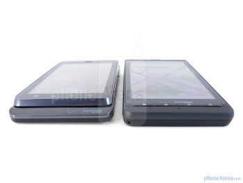The displays of Motorola DROID 3 (left) and Motorola DROID X2 (right) - Motorola DROID 3 vs Motorola DROID X2