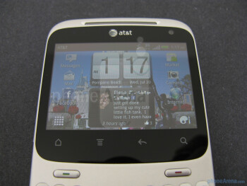 The display on the Status is just 2.6'' in size - HTC Status Review