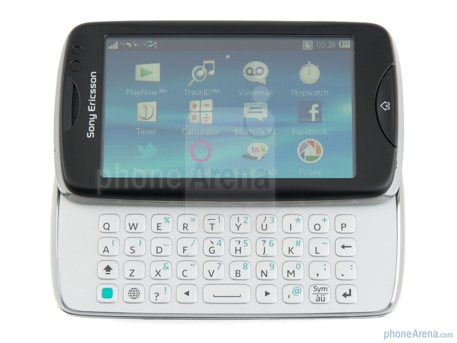 The side sliding mechanism felt solid in operation - Sony Ericsson txt pro Review