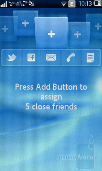 The Touch UI of Sony Ericsson txt pro - Sony Ericsson txt pro Review
