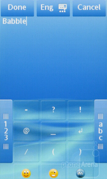 On-screen keyboards of the Sony Ericsson txt pro - Sony Ericsson txt pro Review