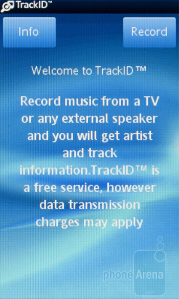 TrackID - The music player - Sony Ericsson txt pro Review