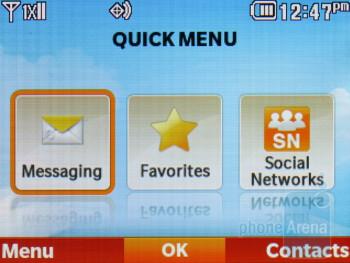 The Quick menu - LG Cosmos 2 Review