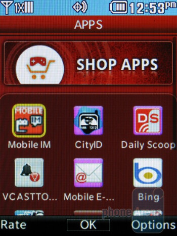 The Apps menu - LG Cosmos 2 Review
