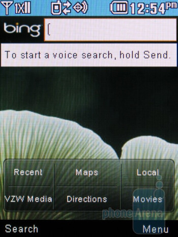 Microsoft Bing search app - LG Cosmos 2 Review