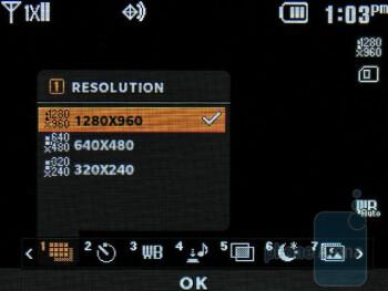 Camera interface - LG Cosmos 2 Review