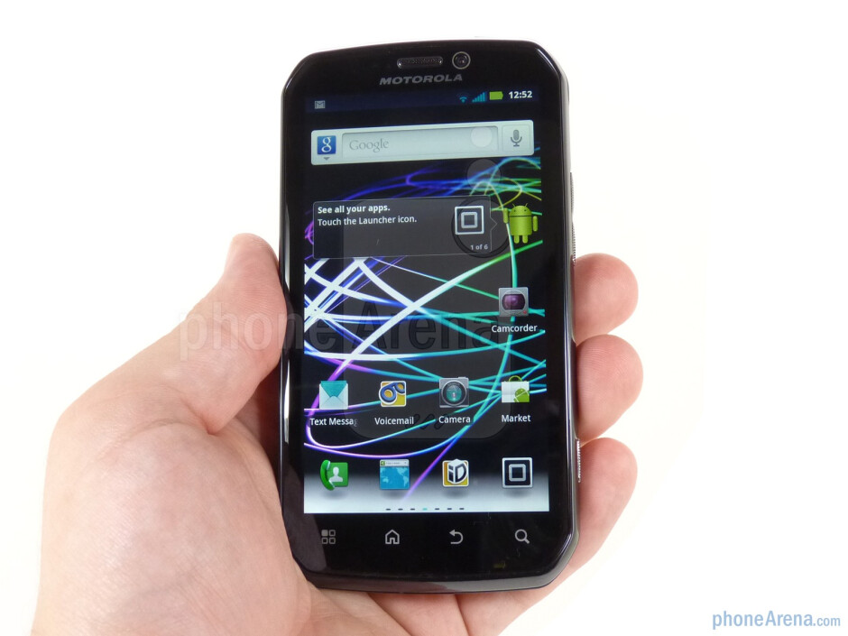 The Motorola Photon 4G feels well-balanced and natural in the hand - Motorola PHOTON 4G Review