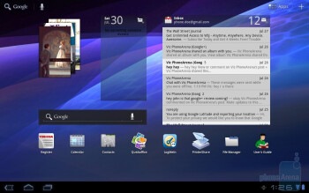 The Toshiba Thrive is greeted with the stock Android 3.1 Honeycomb experience - Toshiba Thrive Review
