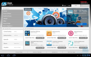 App Place - Toshiba's own branded apps - Toshiba Thrive Review