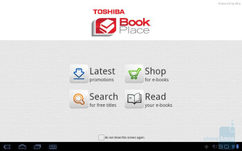Book Place - Toshiba's own branded apps - Toshiba Thrive Review