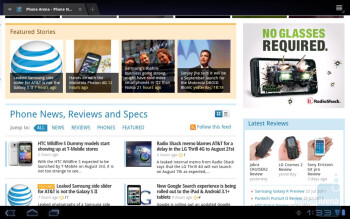 Web surfing with the Toshiba Thrive - Toshiba Thrive Review