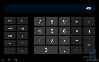 Calculator - Core organizer apps of the Toshiba Thrive - Toshiba Thrive Review