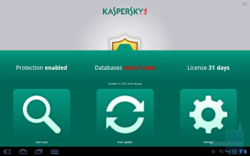 Kaspersky Tablet Security - Third party apps - Toshiba Thrive Review
