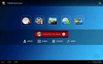 Toshiba Media Player - Toshiba Thrive Review