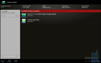 Service Station - Toshiba's own branded apps - Toshiba Thrive Review