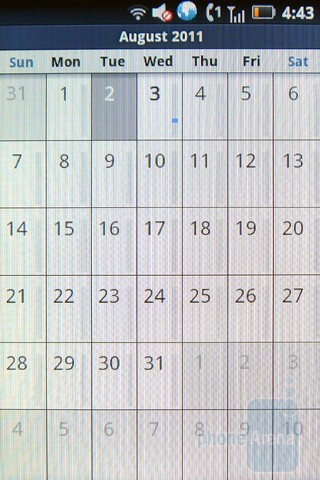 Calendar - Motorola TITANIUM Review