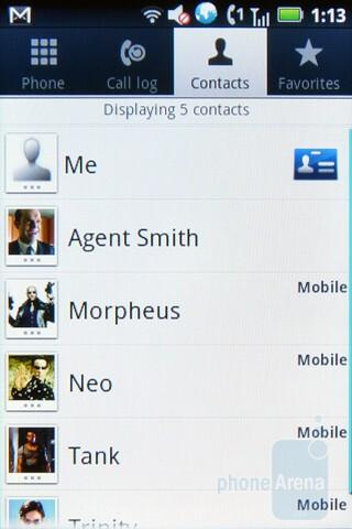 Contacts - Motorola TITANIUM Review