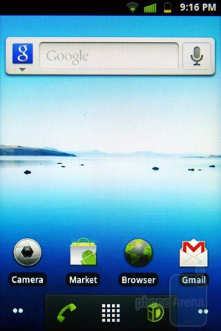 Home screen - Samsung Conquer 4G Review