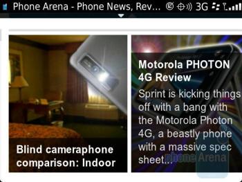 Internet browsing - RIM BlackBerry Bold 9930 Review