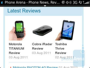 Internet browsing - RIM BlackBerry Bold 9930 Review