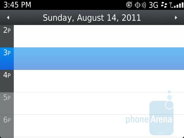 Calendar - RIM BlackBerry Bold 9930 Review