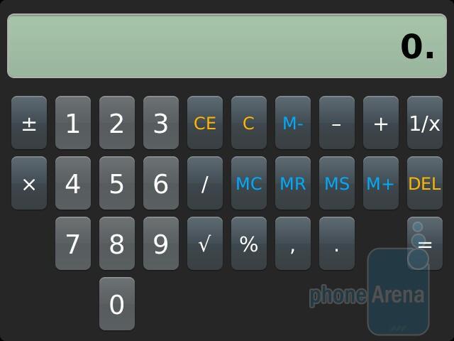 Calculator - RIM BlackBerry Bold 9930 Review