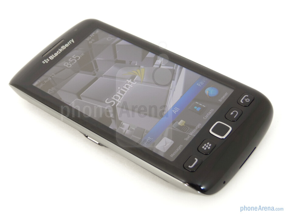 """We find a reasonable 3.7"""" WVGA screen on the Torch 9850 - RIM BlackBerry Torch 9850 Review"""
